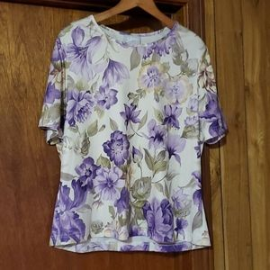 Blair Iris Floral Shell Blouse